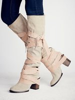 Botas mujer; Высокие Сапоги выше колена на высоком массивном каблуке; женские кожаные сапоги с перекрестной шнуровкой; женская обувь с круглым но