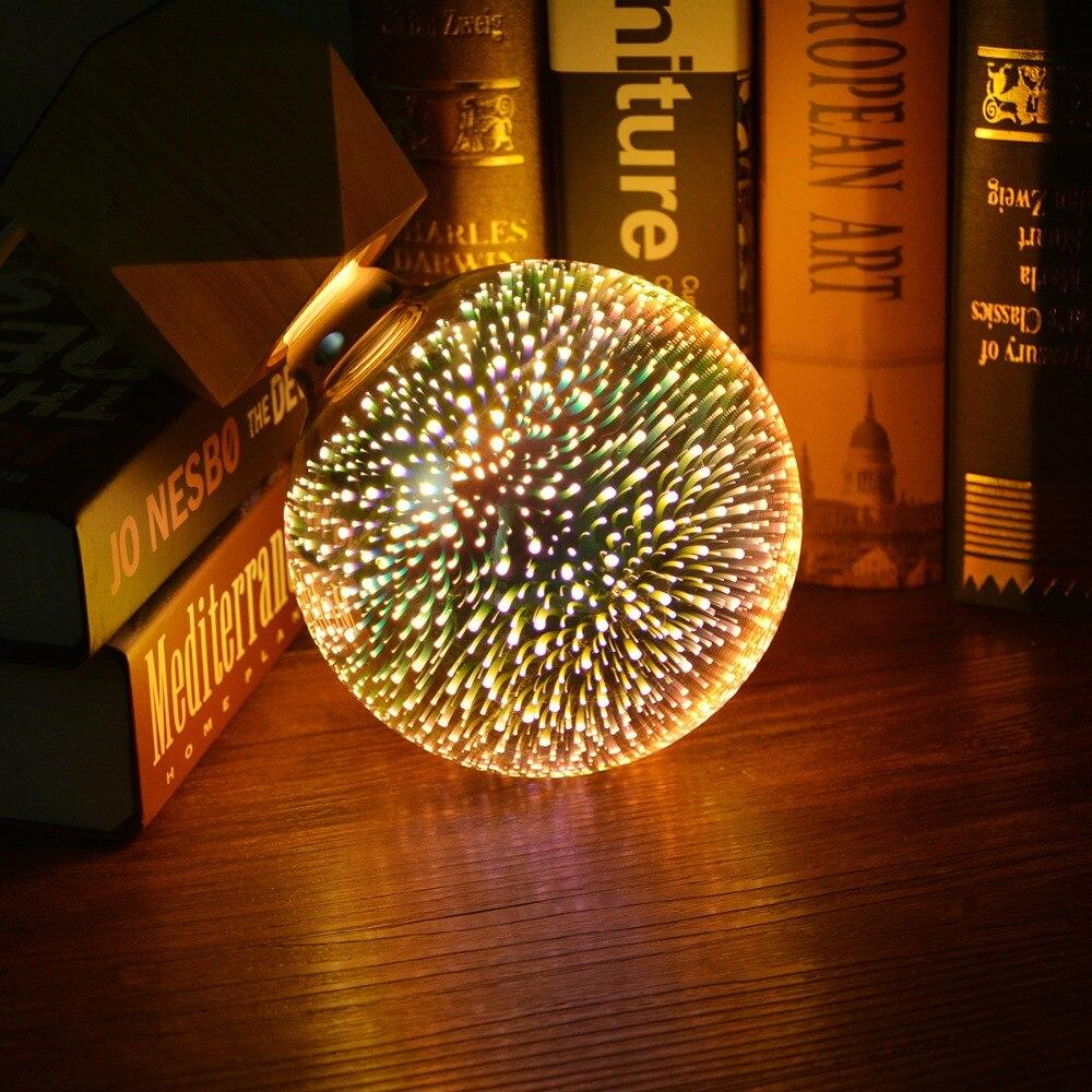 3D Effet LED Table lampe E27 110 V 220 V LED Feux D'artifice lumière lampe De Bureau Creative lampe Décorative Pour Chambre A60 ST64 G80 G95 G125