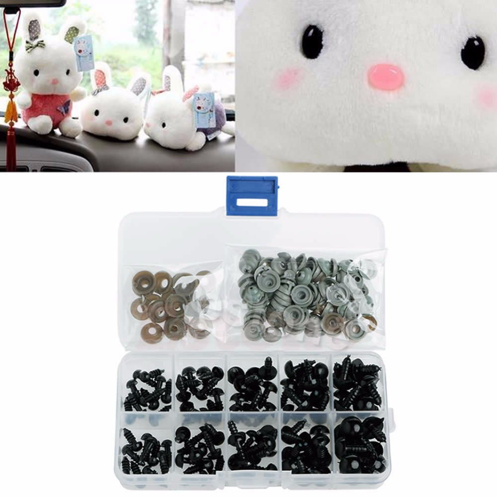 New-100pcs-6-12mm-Black-Plastic-Safety-Eyes-For-Teddy-Bear-Doll-Animal-Puppet-Crafts-2