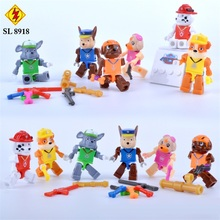Patrulla canina Puppy Patrol Dog Minifigures Animal Building Block Bricks Action Figures Assemble Model Toy Juguetes Brinquedos