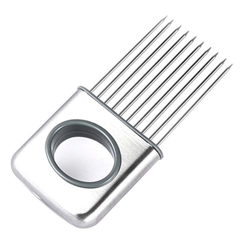 Hot Sale Onion Holder Slicer Vegetable tools Tomato Cutter Stainless Steel Kitc