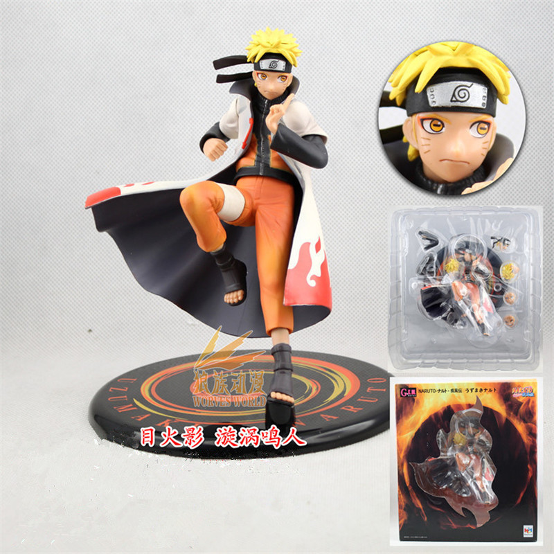 1pc/lot Naruto Action Figures PVC Collection Model Toy Hokage Anime Action Figures Toys With Cloak Red/White 17.5cm hot anime naruto 4th hokage namikaze 6 action figure collectible pvc model gift toy