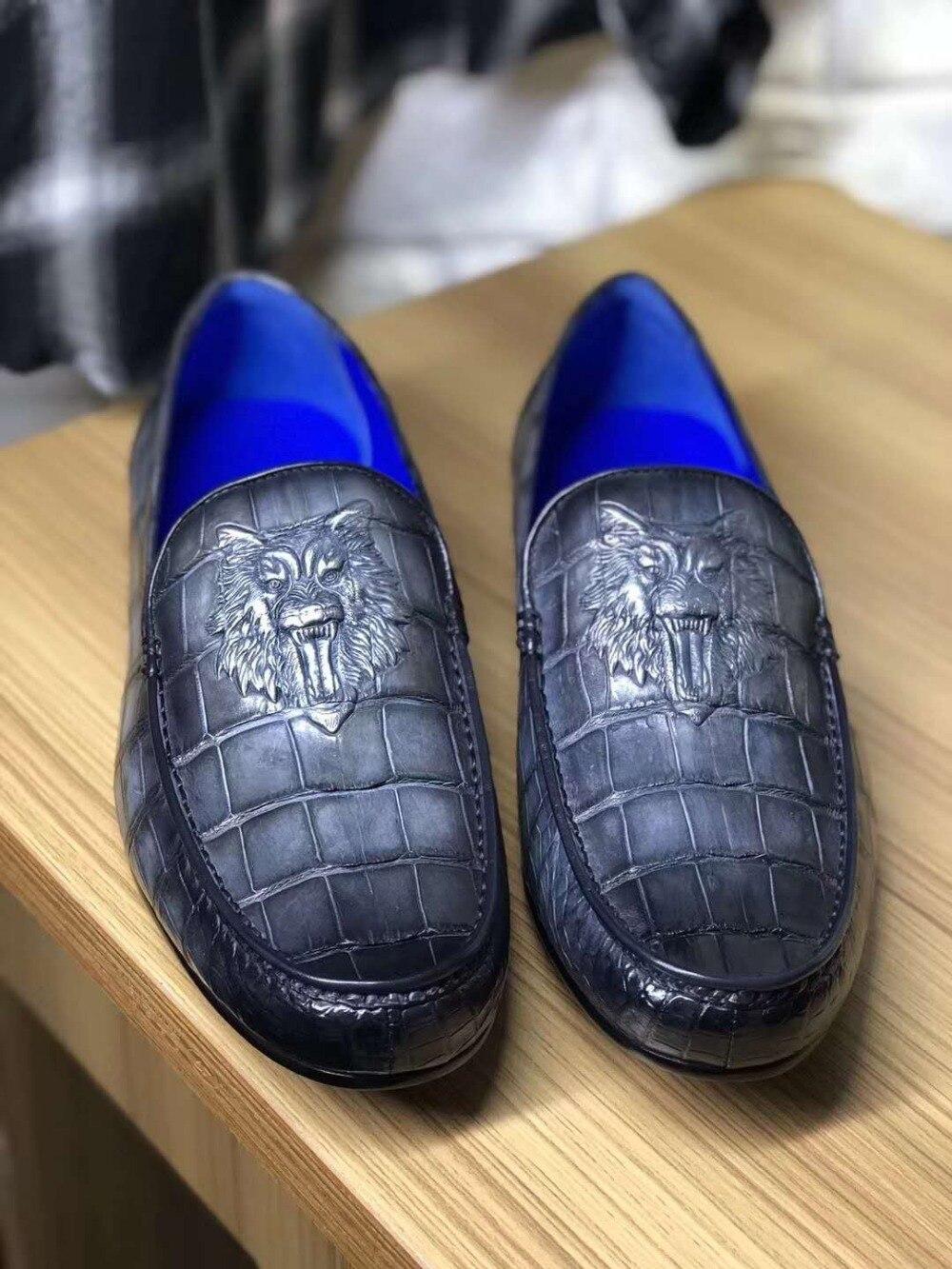 Formal Shoes 100% Genuine Real Crocodile Belly Skin Shinny Black Color Leather Men Shoe Durable Solid Crocodile Skin Men Dress Shoe Official Street Price