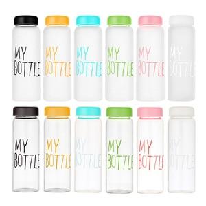 Image 3 - La mia bottiglia di Plastica 500ml PC Bottiglie di Acqua per acqua Trasparente o satinato resistente Al Calore A Tenuta Bottiglia di corsa di colore su ordinazione