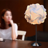 Ceiling Pendant DIY IQ Jigsaw Puzzle Lamp Shade Kit Lampshade (White, size 16 inch)