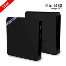 10pcs tv box Mini M8S Android 5.1 Amlogic S905 2G Ram 8G 4K smart TV Box Kodi Miracast DLNA Pre-installed set top box