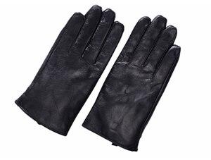 Image 5 - St.Susana 2018 men fashion simple brief England Russian gift show Male sheepskin genuine leather thin short gloves winter
