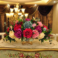 flower vase Home Furnishing Hathaway ornaments jewelry wedding gift set simulation flower living room decoration