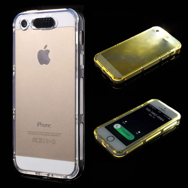 detailed look a0cd1 11470 US $2.19 |Phone Cases for iPhone 5S Case Incoming Call LED Flashing Clear  TPU & PC Case Back Cover for iPhone 5s 5 on Aliexpress.com | Alibaba Group