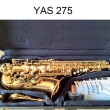 Япония Alto саксофоны YAS 275 электрофорез золотой ключ саксофон музыкальные инструменты professional мундштук жесткий коробка Лидер продаж