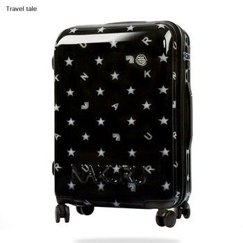 e297fc9d0 Viaje moda de alta calidad bordado 16/20/24 tamaño 100% pu Maletas con ruedas  SPINNER marca maleta de viaje