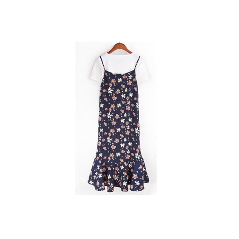 YL HaiDu Store YL 2017 Summer Dress Women O Neck Fashion New Style Above Knee Mini Party Dresses Plus SIze