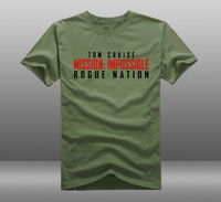Mens Casual 2015 Film Mission: Unmöglich-Rogue Nation Tom Cruise Kurzarm T-shirts Tops T-shirts