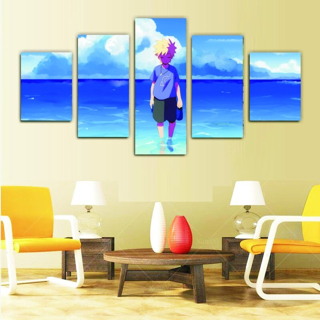 5 piece canvas art wall pictures for living room HOKAGE 30X40X2 ...