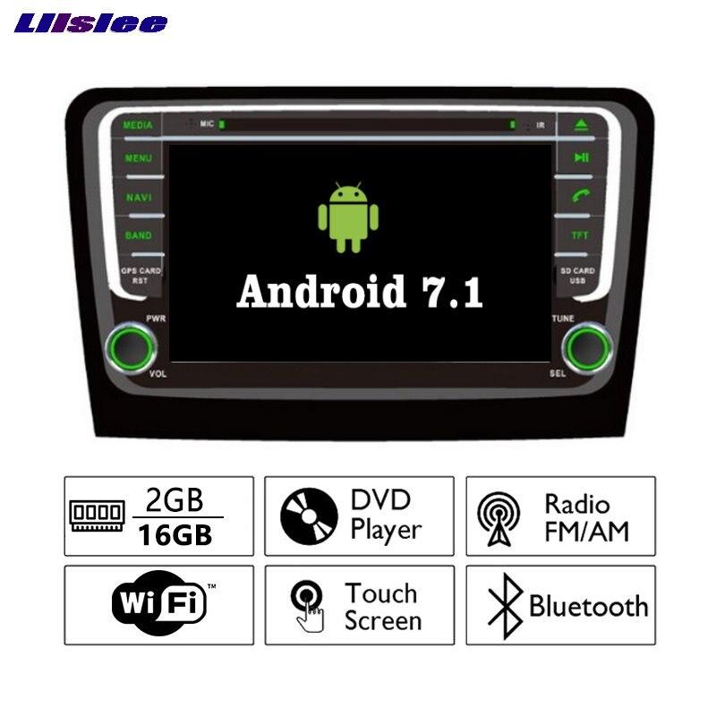 Liislee Android 7.1 2 г Оперативная память для SKODA RAPID 2013-Автомобильный Радио Аудио Видео Мультимедиа dvd-плеер WI-FI DVR GPS Navi навигации