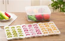 1PC Square Convenient Handle Refrigerator Pp Storage Box Frozen Dumplings Non-stick Food Crisper OK 0824