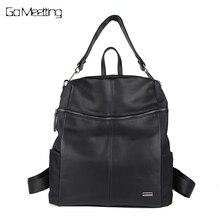 Go meetting бренд Модные женские туфли Рюкзаки искусственная кожа + Оксфорд сумки на плечо multi-Функция женская сумка Mochilas Рюкзак