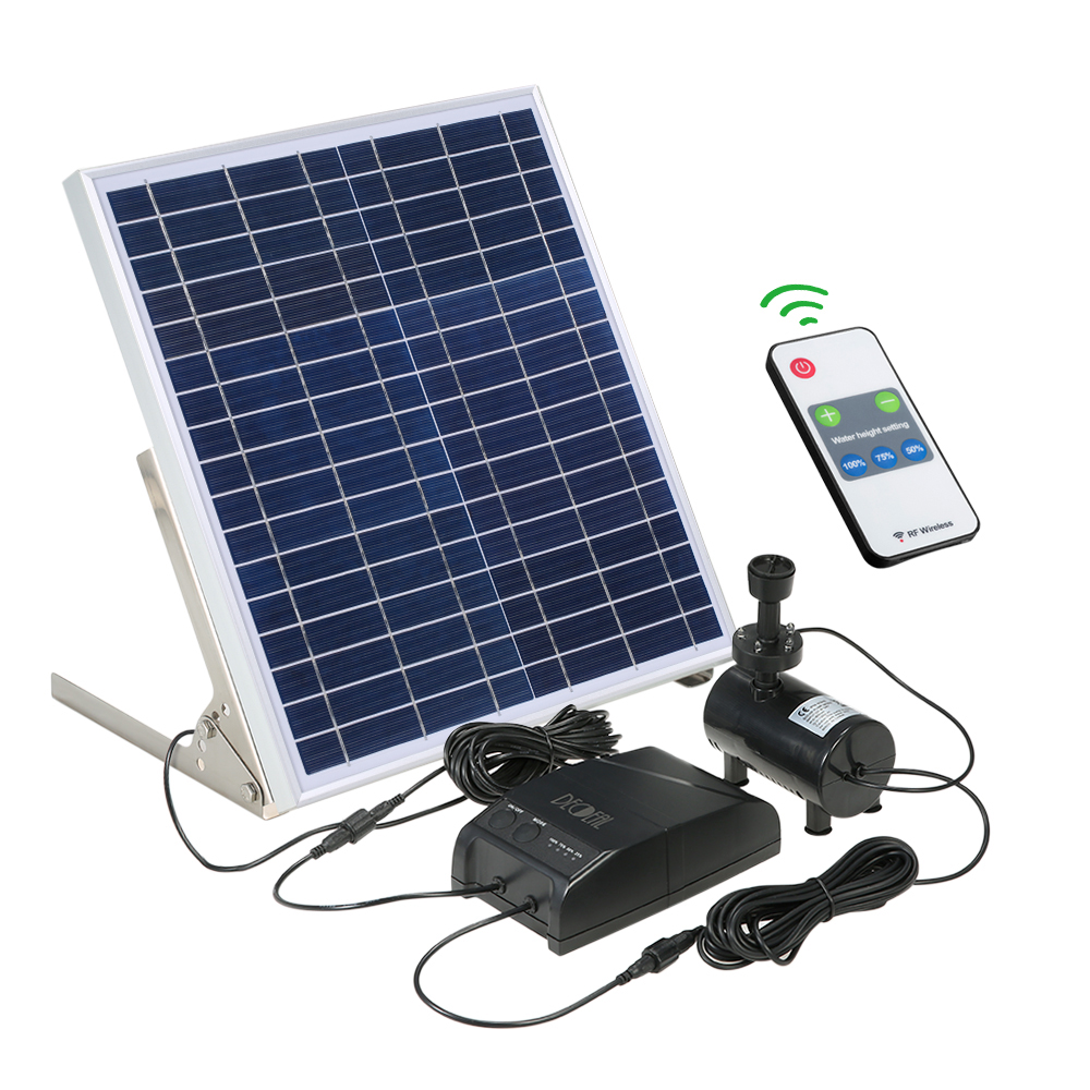 Solar Power Fountain 15W Solar Panel 3 6W Brushless Water Pump Kit with Storage Battery Remote