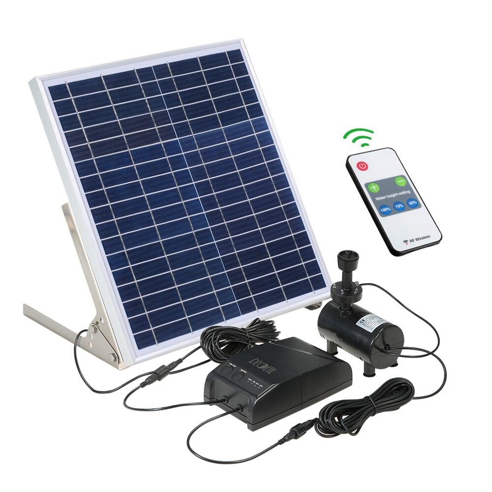 태양 전원 분수 15 w 태양 전지 패널 + 3.6 w 브러시 워터 펌프 키트 저장 배터리 원격 제어 정원 연못 조류 목욕-에서워터 펌프들부터 홈 & 가든 의  그룹 1
