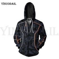 Avengers 4 Endgame Men and Women Zipper Hoodies Iron Man Tony 3D Hooded Jacket Superhero Sweatshirt Streetwear Cosplay Costume