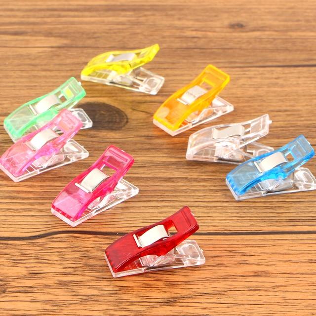 50 Piece/set Pvc Plastic Clips For Patchwork Sewing Diy Crafts, Quilt Quilting Clip Clover Wonder Clip 2.7*1cm Wholesale Retail