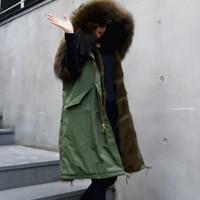Luxurious Fashion Women Real Fox Fur Vest Parka Coat Thick Warm Natural Fox Fur Lining Long Sleeveless Fur Waistcoat Outwear