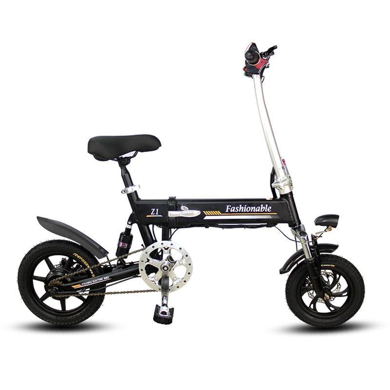 14 pouces vélo électrique Portable pliant vélo électrique mini adulte e vélo motorisé motos Deux-freins à disque vélo électrique