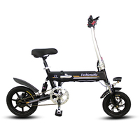 14inch electric bike Portable folding electric bicycle mini adult e bike powered motorcycles Two disc brakes electric bicycle