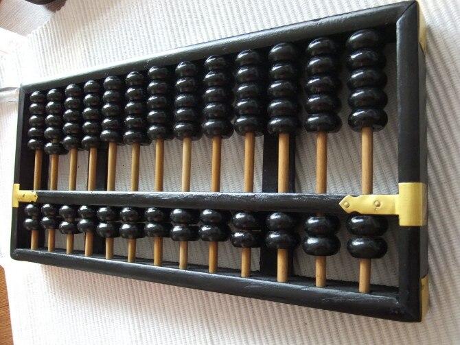 Noir vintage Grand Boulier Chinois soroban 13 colonne No 4 pour comptable banque outil mathématique l'éducation xmf066 livraison gratuite - 3