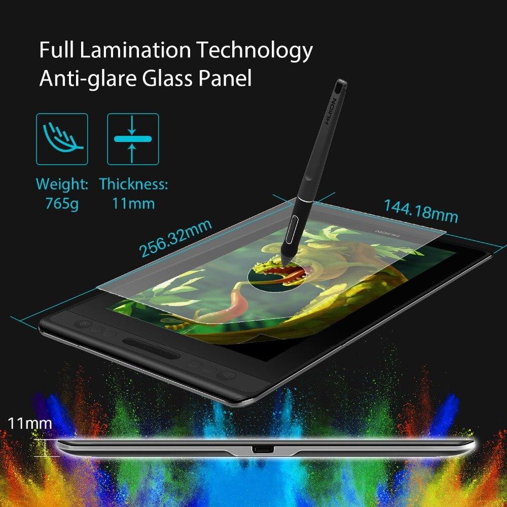 HUION Kamvas Pro 12 GT-116 sans batterie Support d'inclinaison moniteur d'affichage de stylo 11.6 pouces stylo graphique dessin tablette moniteur - 5