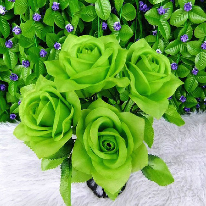New Artificial Rose Flower Buds Bunch 5 Flowers Artificial Flowers ...