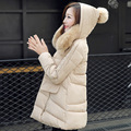 2016 new fashion parkas for women winter warm hooded cotton-padded jacket A-line Casual Wadded Coat DX296