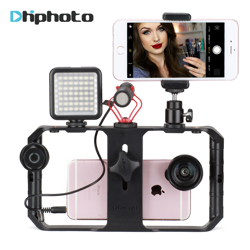 Ulanzi Live Streaming Setup Tour Video Gear,BY-MM1 Microphone,Video LED Light,Bluetooth Remote for Makeup Bloggers Broadcasting