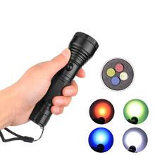 Buy HobbyLane High Power 4 Color LED Flashlight Filter Signal Torch Filter Emergency Signal Light T6 3800 Torch Flashlight Hot directly from merchant!
