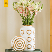 Gold Round Modern Fashion Nordic vase decoration home for flowers Wedding hallway decoration Vase ceramic