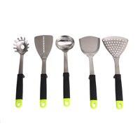 6pcs Set Stainless Steel Cooking Utensil Tool Sets Kitchen Tools Set Including Soup Ladle Colander Truner