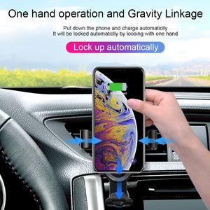 Image 4 - CHOETECH Drahtlose Lade 10W Qi Drahtlose Auto Ladegerät Telefon Halter Für iPhone 11 Pro Xs Max Telefon Schnelle Auto halterung Für Samsung S9