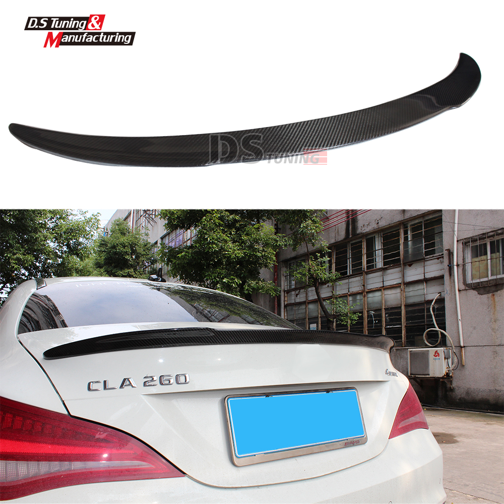 Mercedes CLA w117 carbon fiber FD style cf rear trunk spoiler wing for CLA 180 CLA200 CLA250 2013 2014 2015 2016 2017 mercedes cla w117 amg style replacement cf rear trunk wing spoiler for benz 2013 cla 180 cla200 cla 250