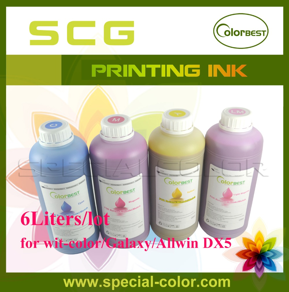 Colorbest 6Liters/lot Chinese Large Format Printer Wit-Color/Allwin/Myjet DX5 Eco Solvent ink in bottle собачка гоша маленькая