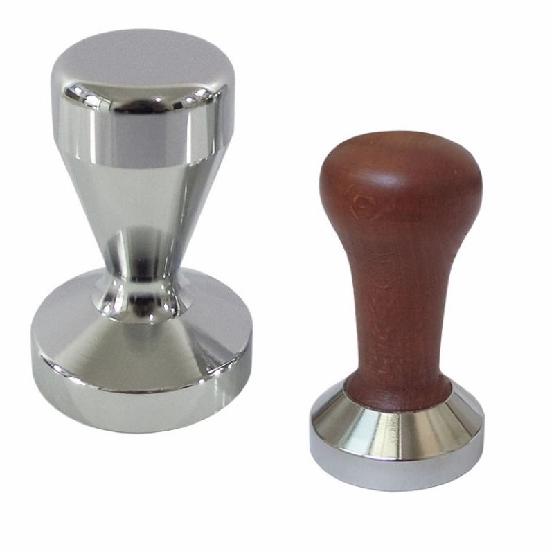 49MM 51MM 47 5MM 58MM Stainless Steel Espresso Coffee Tamper Flat Base Coffee Powder Press Hammer Coffee Tool in Coffee Tampers from Home Garden