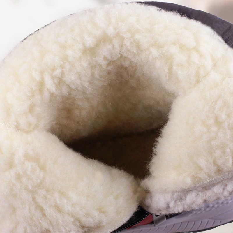 2019 נשים חורף מגפי החלקה עמיד למים שלג מגפי נשים עבה קטיפה מגפי קרסול-40 מעלות