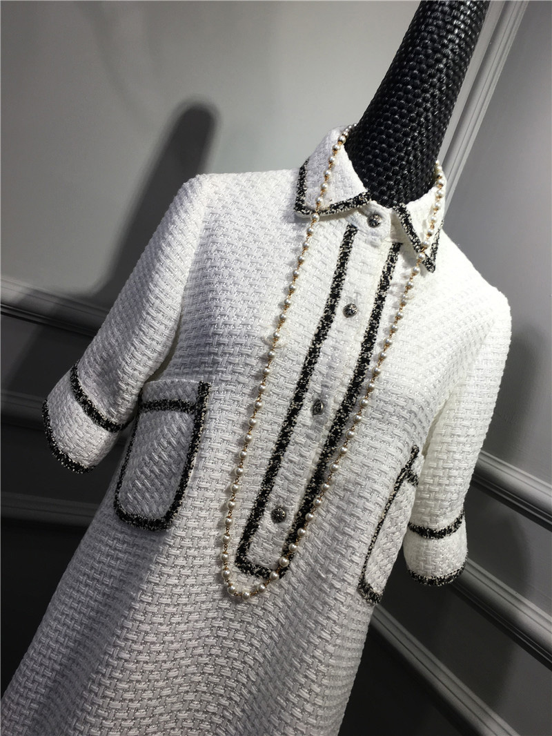 women elegant office dress,custom plus size xs-6xl,tweed winter dress,ladies vestidos de fiesta,tweed autumn White dress 14