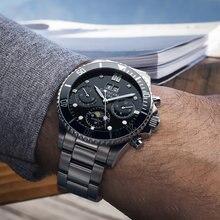 Mondphase Männer Uhren Luxus Marke Mechanische Automatische Rolle Business Uhr männer Wasserdichte Armbanduhr reloj erkek kol saati uhr