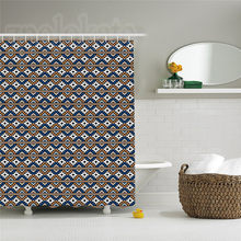 Native American Decor Shower Curtain Set Ethnic Seamless Geometrical Pattern In Boho Chic Style Bathroom Accessories(China)