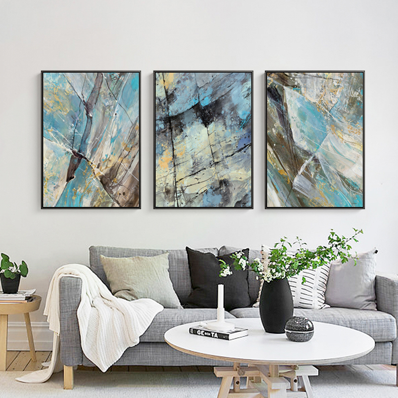 Big Canvas Art Modern Watercolor Abstract Ink Splash Big: Elegant Poetry Color Ink Splash Abstract Modern Simplicity