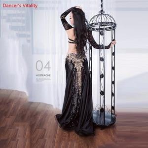 Image 5 - Women Belly Professional Dancing Costumes Ladies 2018 NEW Dance Dresses Belly Dance Luxury Bra + Long Skirt 2Pcs / Set Suit