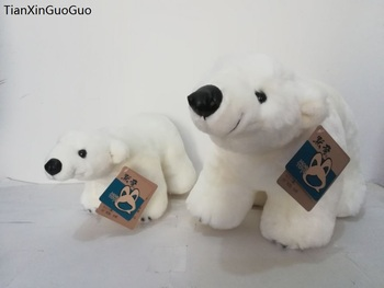 stuffed toy large 42cm and 30cm lovely white polar bears plush toy soft dolls throw pillow  one lot/2 pcs,birthday gift w2106