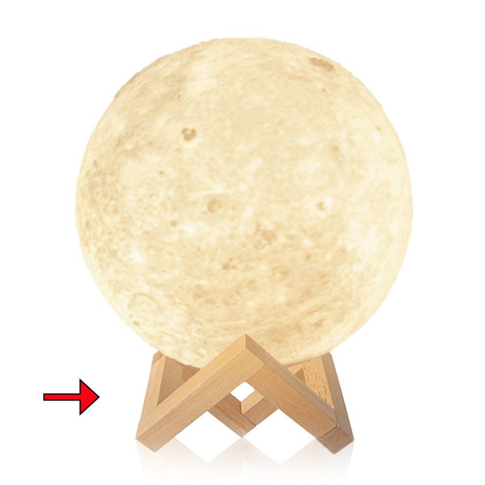 Detachable Smooth Solid Wood Bracket for Moon Shaped Lamp Holder Ball Shaped Light Stand Base Moon Light Fittings 2 Size