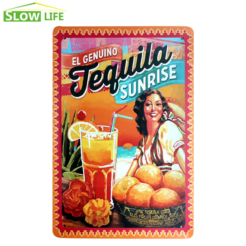 Plaques & Zeichen Wohnkultur Die Echte Tequila Vintage Wohnkultur Zinn Zeichen Metall Platte Bar/restaurant/hotel Wand Dekor Metall Zeichen Retro Malerei Plaque