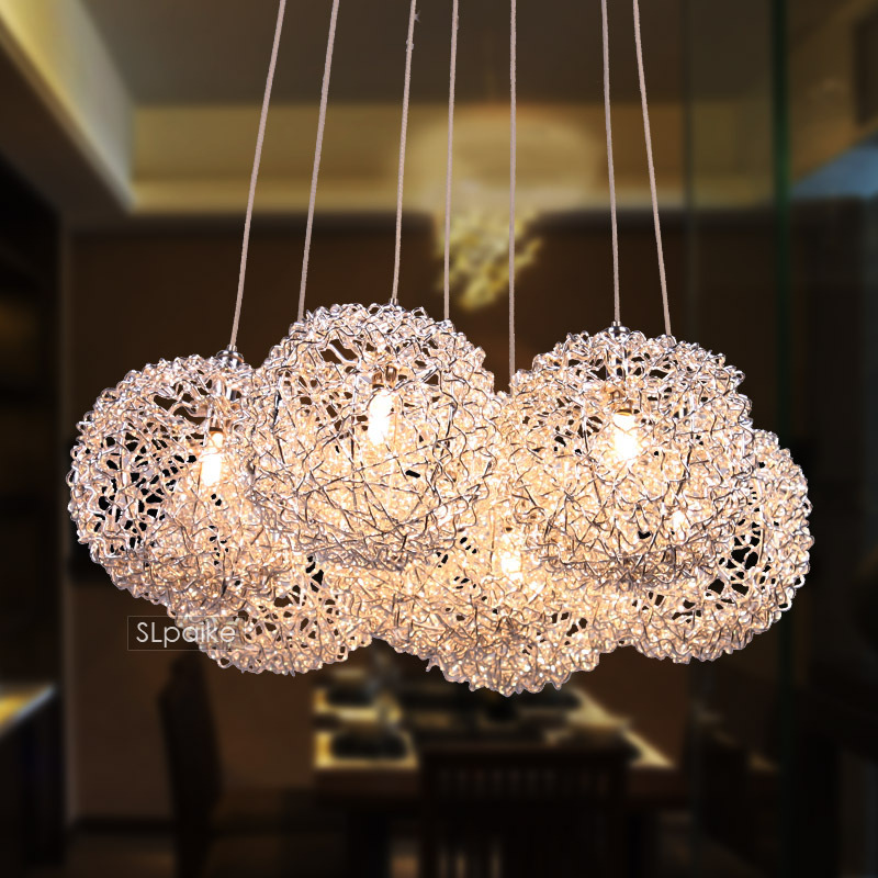 ФОТО FREE SHIPPING EMS pendant light modern brief restaurant lights bedroom lamp aluminum wire lamp fashion